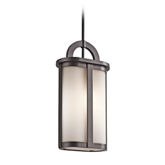 Kichler Lighting Rivera Architectural Bronze Outdoor Hanging Light