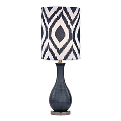 Accent Lamp in Navy Blue with Black Nickel Finish