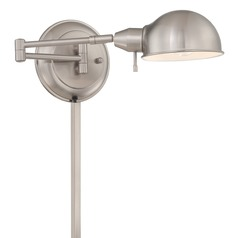Lite Source Lighting Rizzo Polished Steel Swing Arm Lamp
