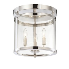 Savoy House Polished Nickel Semi-Flushmount Light
