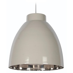 Kenroy Home Lighting Silo Taupe and Nickel Pendant Light