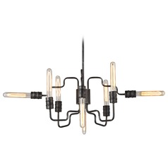 Elk Lighting Transit Silvered Graphite Chandelier