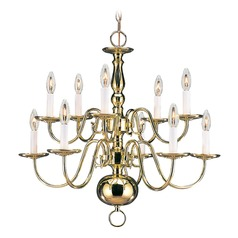 Sea Gull Lighting Traditional Polished Brass LED Chandelier