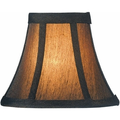 Bronze Bell Lamp Shade with Clip-On Assembly