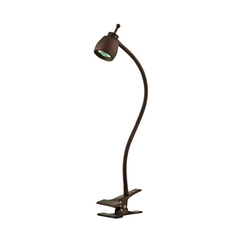 LEDs by ZEPPELIN LED Clip-On Lamp with Gooseneck Arm in Bronze Finish 826-BZ