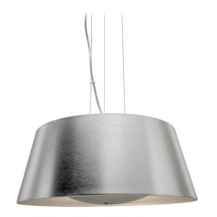 Access Lighting Soho Brushed Silver Pendant Light with Drum Shade