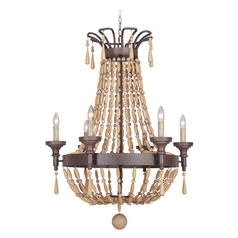 Jeremiah Lighting Berkshire Aged Bronze Textured Chandelier