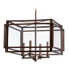 Quorum Lighting Kaufmann Oiled Bronze Pendant Light
