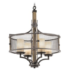 Kichler Ahrendale 4-Light Chandelier in Anvil Iron
