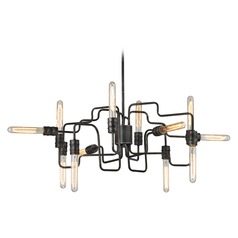 Industrial Chandelier Silvered Graphite Transit by Elk Lighting