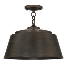 Capital Lighting Tybee Nordic Grey Semi-Flushmount Light