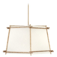 Hinkley Lighting Tress Champagne Gold Pendant Light with Square Shade