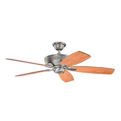 Kichler Lighting Monarch Burnished Antique Pewter Ceiling Fan Without Light