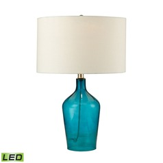 Dimond Lighting Teal LED Table Lamp with Drum Shade