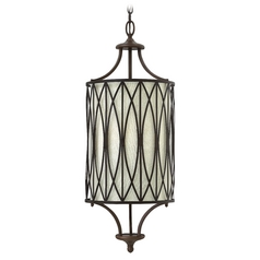 Hinkley Lighting Walden Victorian Bronze Pendant Light with Cylindrical Shade