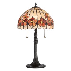 Quoizel Lighting Sea Shell Collection Captiva Vintage Bronze Table Lamp with Bowl / Dome Shade