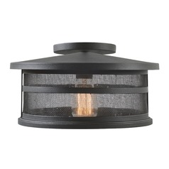 Seeded Glass Close To Ceiling Light Black Mesh Kenroy Home Lighting