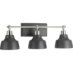 Industrial Bathroom Light Brushed Nickel Bramlett by Progress Lighting