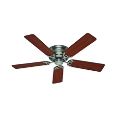 52-Inch Hunter Fan Low Profile III Antique Pewter Ceiling Fan Without Light
