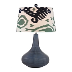 LED Table Lamp with Multi-Color Shades in Navy Blue Finish