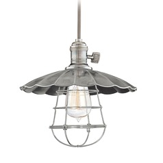 Hudson Valley Lighting Heirloom Historic Nickel Pendant Light with Bowl / Dome Shade