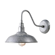 Barn Light Outdoor Wall Galvanize Metal by Kenroy Home Lighting