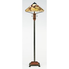 Floor Lamp with Multi-Colored Glass in Multi Finish
