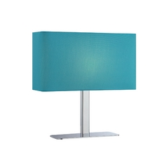 Modern Console & Buffet Lamp with Blue Shade in Chrome Finish