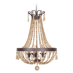 Jeremiah Lighting Berkshire Aged Bronze Textured Pendant Light