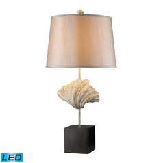 Dimond Lighting Oyster Shell, Dark Bronze LED Table Lamp with Empire Shade