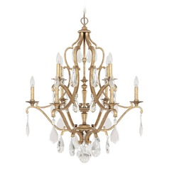 Capital Lighting Blakely Antique Gold Crystal Chandelier