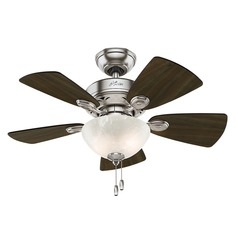 34-Inch Hunter Fan Watson Ceiling Fan with Light - Brushed Nickel Finish