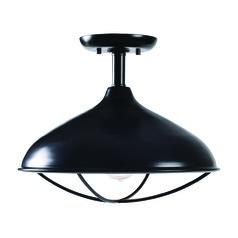Warner Oil Rubbed Bronze Close To Ceiling Light by Kenroy Home