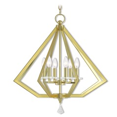 Livex Lighting Diamond Polished Brass Chandelier
