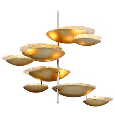 Corbett Lighting Libra Silver Leaf LED Pendant Light with Bowl / Dome Shade