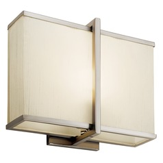 Kichler Sconce Wall Light in Satin Nickel Finish