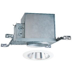4-inch Recessed Lighting Kit with Clear Alzak Cone and White Trim