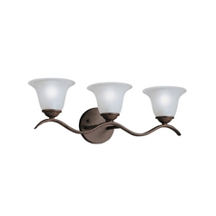 Kichler Lighting Kichler Bathroom Light in Tannery Bronze Finish 6323TZ
