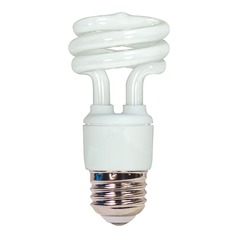 Compact Fluorescent T2 Light Bulb Medium Base 2700K 120V by Satco Lighting