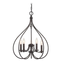 Lite Source Lighting Farrah Dark Bronze Chandelier