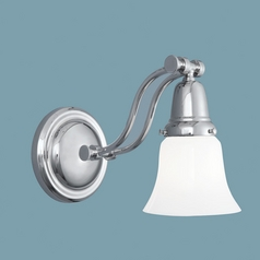 Norwell Lighting Franklin Polished Nickel Sconce