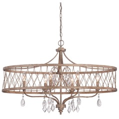 Minka West Liberty Olympus Gold Pendant Light with Drum Shade