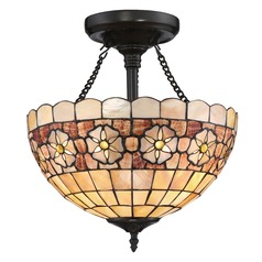 Quoizel Lighting Sea Shell Collection Sanibel Vintage Bronze Semi-Flushmount Light