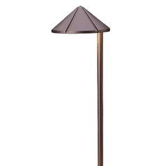 Kichler Lighting Kichler LED Path Light in Bronzed Brass Finish 15827BBR