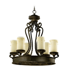Quorum Lighting Alameda Oiled Bronze Chandelier