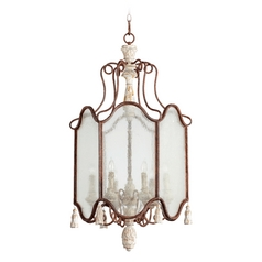Quorum Lighting Quorum Lighting La Maison Manchester Grey W/ Rust Accents Pendant Light 6852-6-56