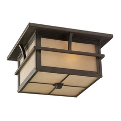 Sea Gull Lighting Medford Lakes Statuary Bronze LED Close To Ceiling Light