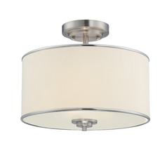 Savoy House Satin Nickel Semi-Flushmount Light