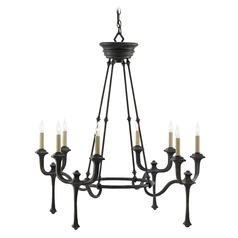 Currey and Company Conversation French Black Chandelier