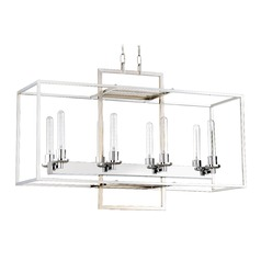 Edison Bulb Chandelier Chrome 36-Inch by Craftmade Lighting